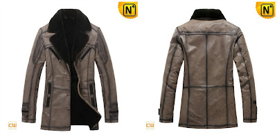 Men Genuine Sheepskin Fur Coat
