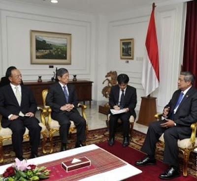 Presiden SBY Terima Kunjungan Jepang
