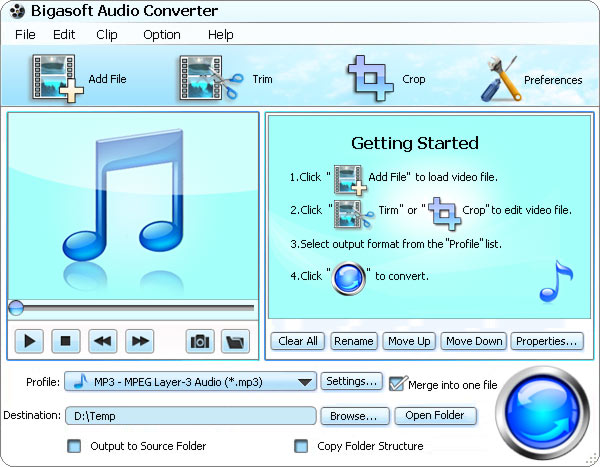 Bigasoft Audio Converter 3.3.21.4147 Software + Keygen