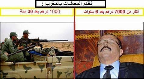 لا بد من الزيادة في اجور و معاشات الجنود و ضباط الصف المغاربة