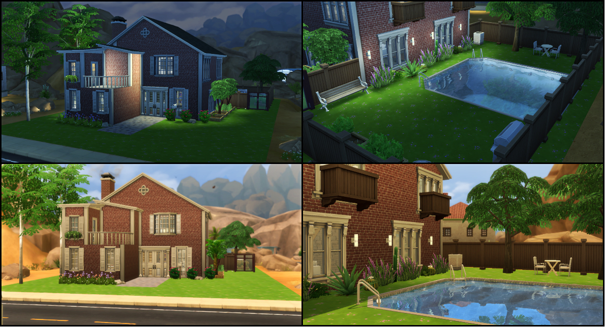 Milujeme the sims classic house in town for Classic house sims 4