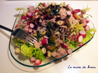 Illustration de la salade croquante au thon