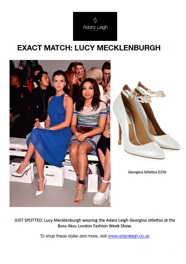 4402e0c5800 EXACT MATCH - Lucy Mecklenburgh wearing Adara Leigh Stilettos