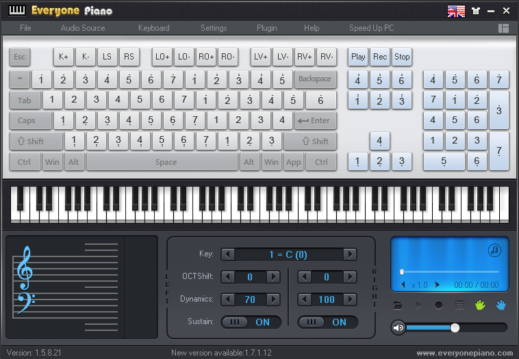Memainkan Piano di PC dengan Aplikasi Everyone Piano 1.7.1.12 - Gratis