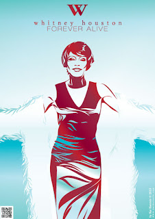FOREVER ALIVE. Whitney Houston by Kai Karenin. Vector illustration