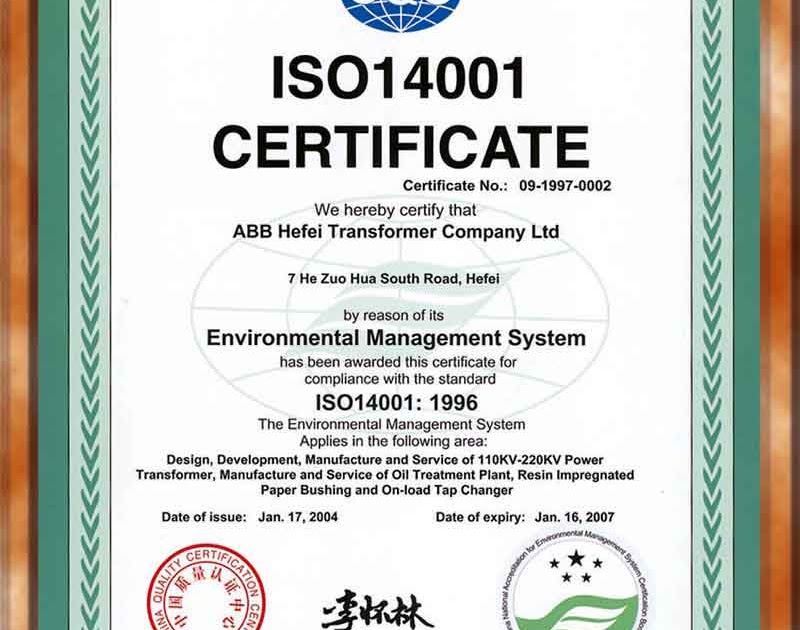 Edi Diwan: ISO 14001