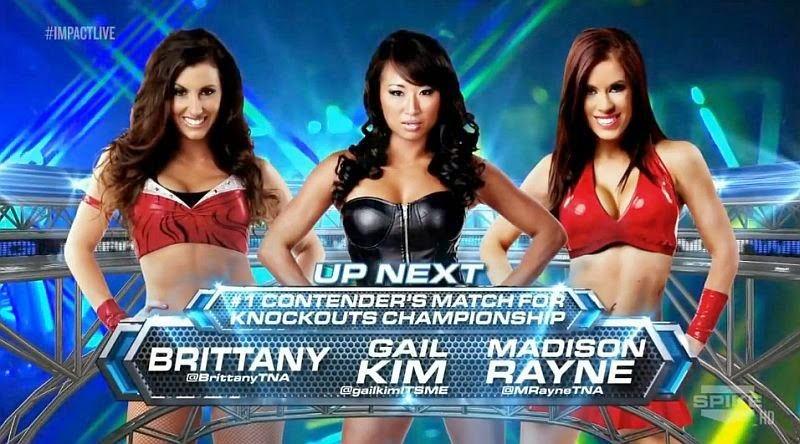 Brittany vs Gail Kim vs Madison Rayne