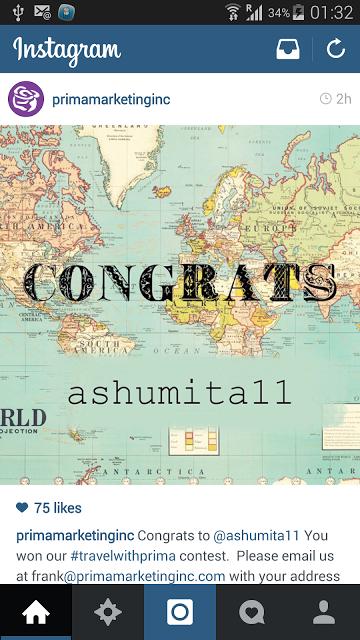 I won Travel with Prima Contest!!