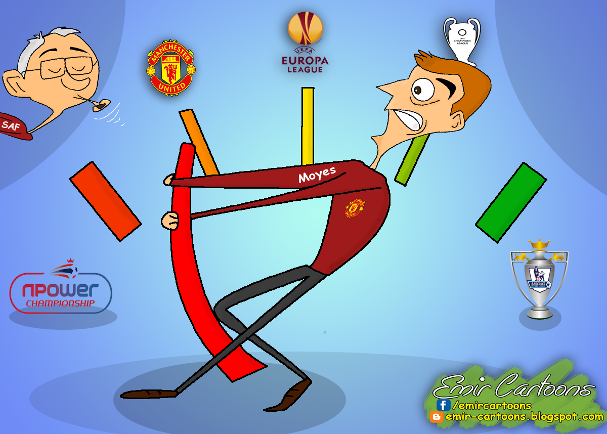 David Moyes, Manchetser United,david moyes cartoons,karikature,fudbal,emir balkan cartoons,best cartoons,