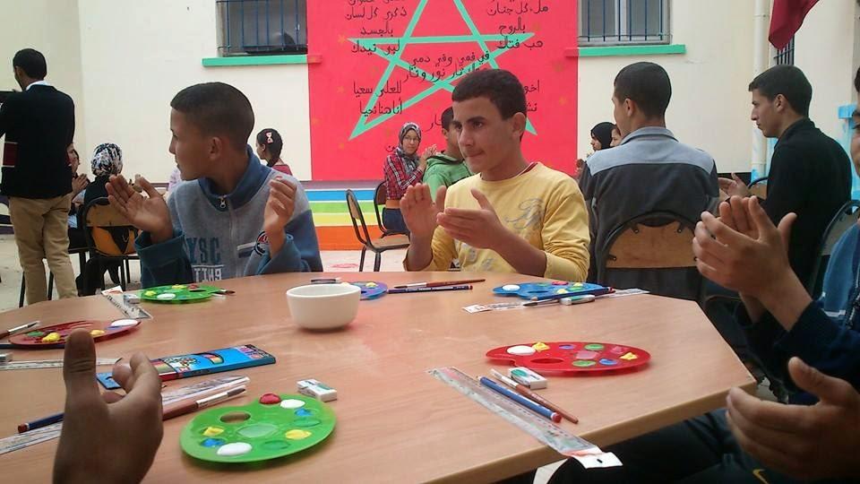 عمالة تاونات تنظم المسابقة الاقليمية للفن التشكيلي والرسم لتلاميذ وتلميذات نزلاء دور الطالب والطالبة بالاقليم