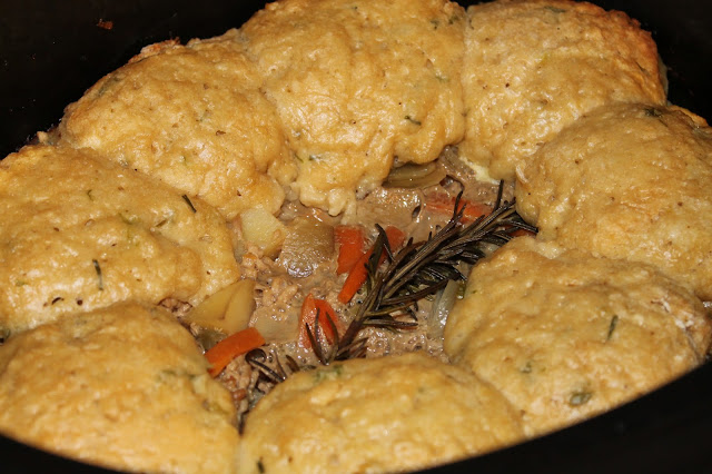 Slow cooker lamb cobbler