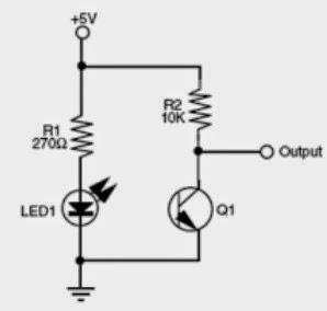 Contoh Rangkaian Infrared/Infra Merah Dan Phototransistor/Foto Transistor Untuk Menghidupkan LED