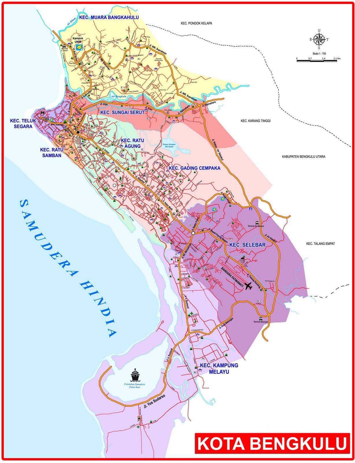 Peta Kota: Peta Kota Bengkulu