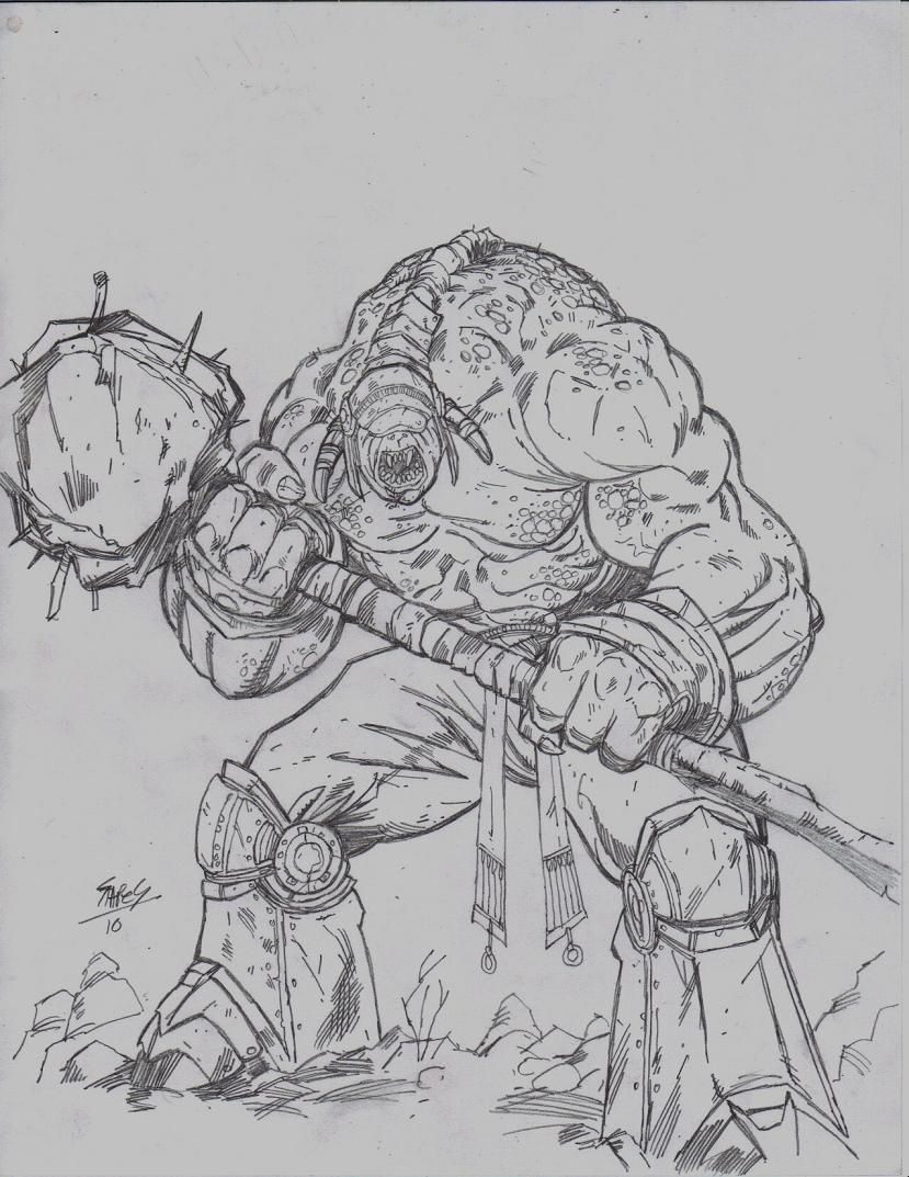 Free coloring pages of gears of war for Locust coloring page