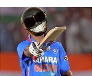 Funny: Virat Kohli used helmet in match practice