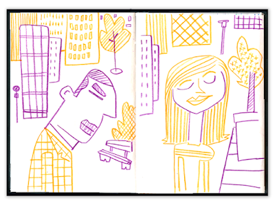 Alex Formika illustration carnet de croquis