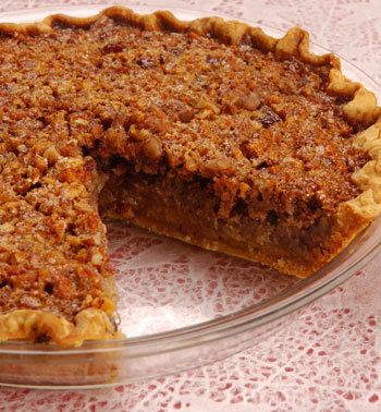 Pecan Pie, Pecan Pie with slice missing