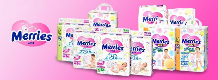 Bỉm Merries hàng nội địa Nhật Bản