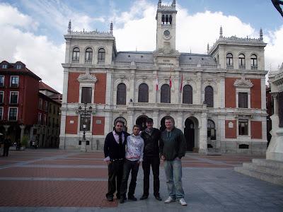 Con amigos en Valladolid