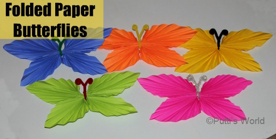 Folded Paper Butterfly theme party