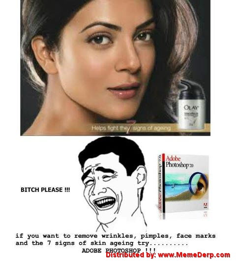 Derp Knows the Secret of Beauty Cream Advertisements Meme