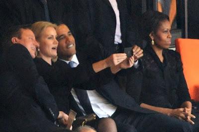 UK Prime Minister David Cameron, President of Denmark Helle Thorning-Schmidt and US President Barack Obama