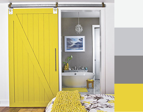 Colores amarillo y gris en la decoraci n ideas para for Decoracion de salas en gris y amarillo