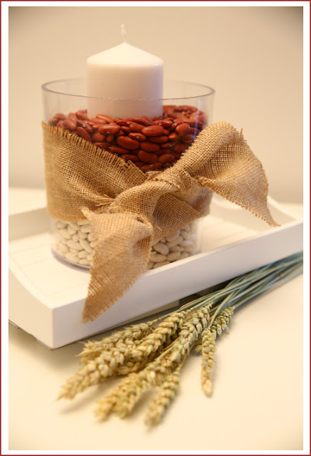 Thanksgiving decoration idea using beans from BistrotChic