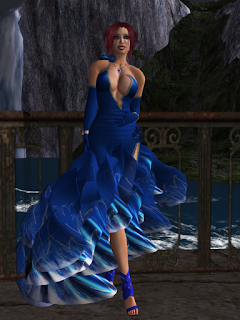 slightly racy blue ballgown