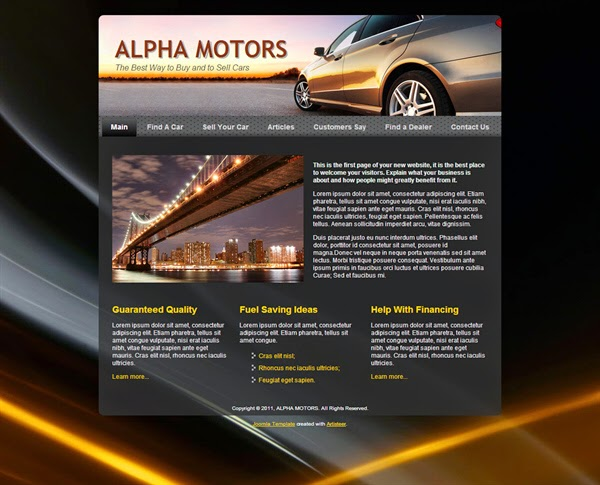 Alpha Motors - Free Joomla! Template