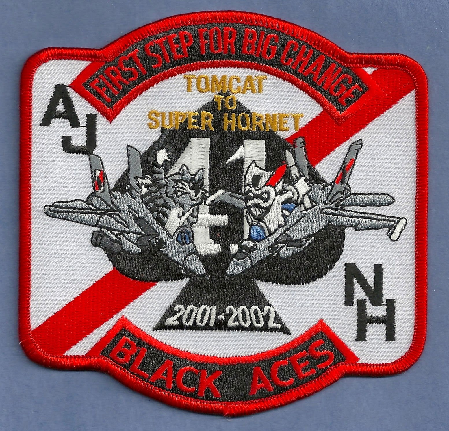 VF-41 BLACK ACES F-14 NAVY FIGHTER SQUADRON 2001-2002 AIRCRAFT PATCH