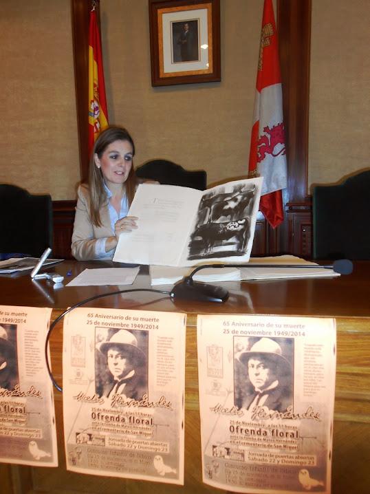 Presentación de los actos por el 65 Aniversario de la Muerte del gran escultor bejarano Mateo Hernández