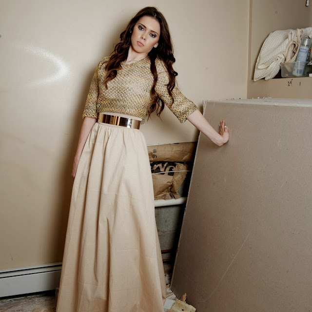 Modest formal gown with sleeves hijab tznius fashion