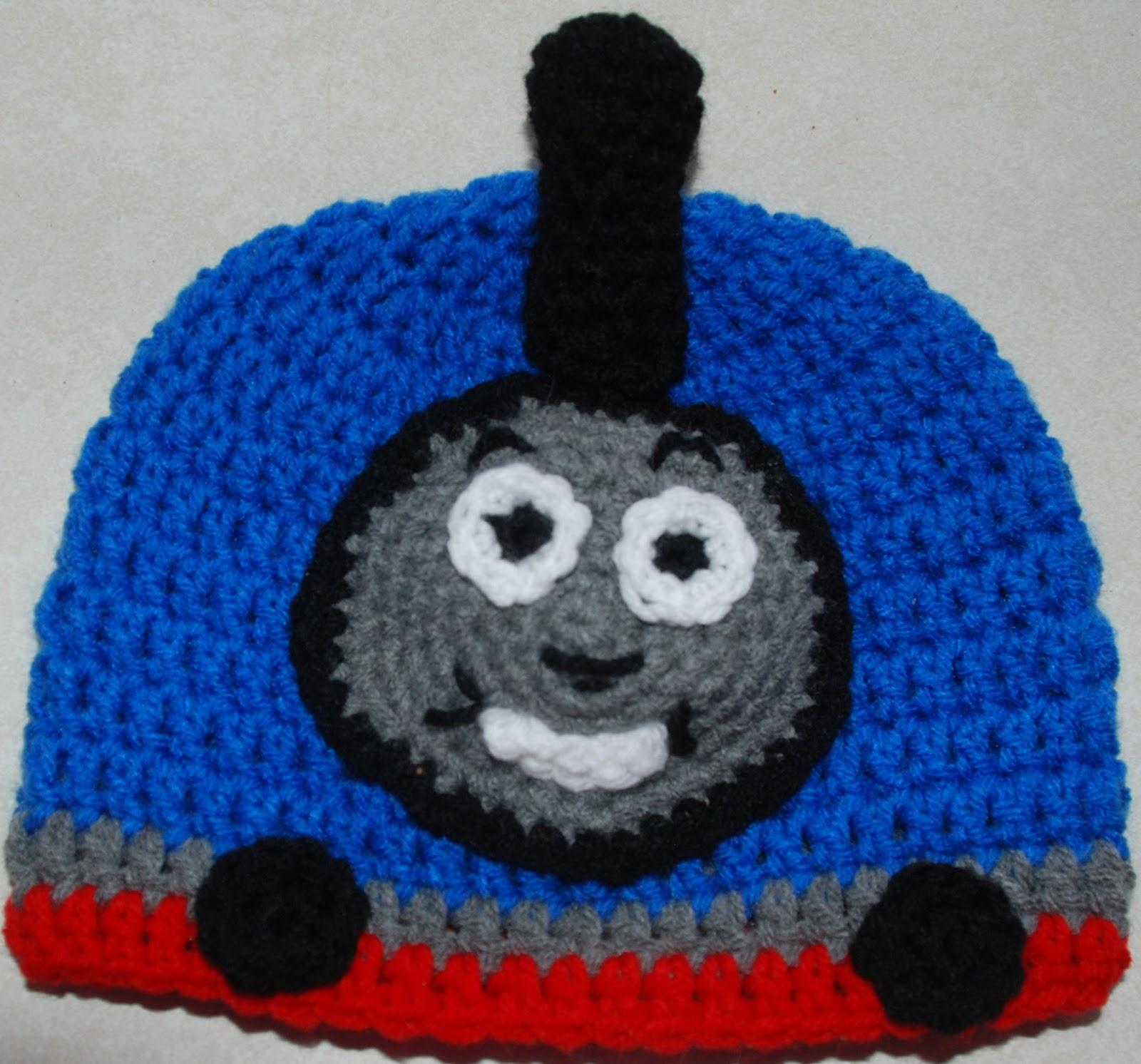 Free Crochet Hat Pattern For Thomas The Train : Amys Crochet Creative Creations: Crochet Thomas the Train Hat