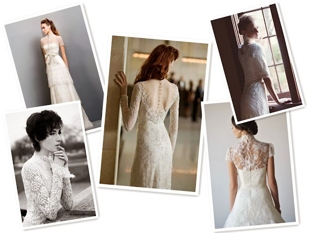 Sleeves are a Key Trend for 2014 Lace Wedding Dress