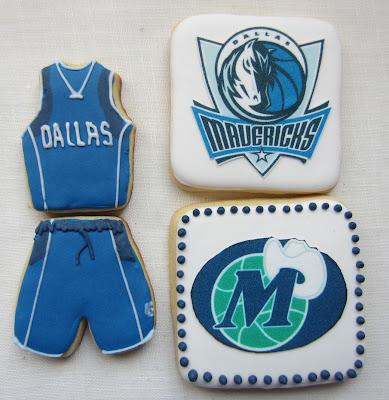 galletas Dallas Mavericks NBA decorada y papel de azucar