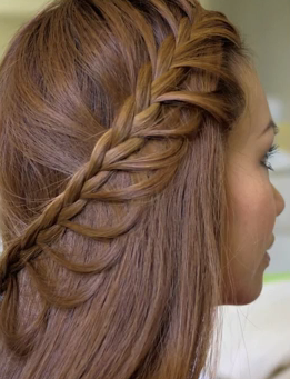 Cascading Braids Hairstyle for Long hair