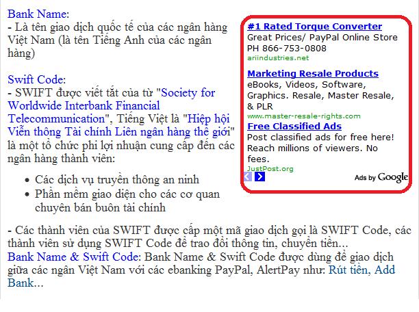 Chèn mã quảng cáo Adsense vào Blogger