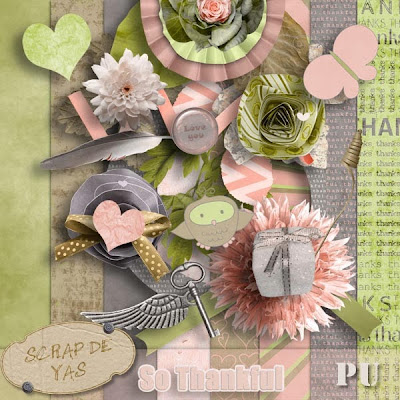 "kit freebie ""so thankful"" by Scrap de Yas"