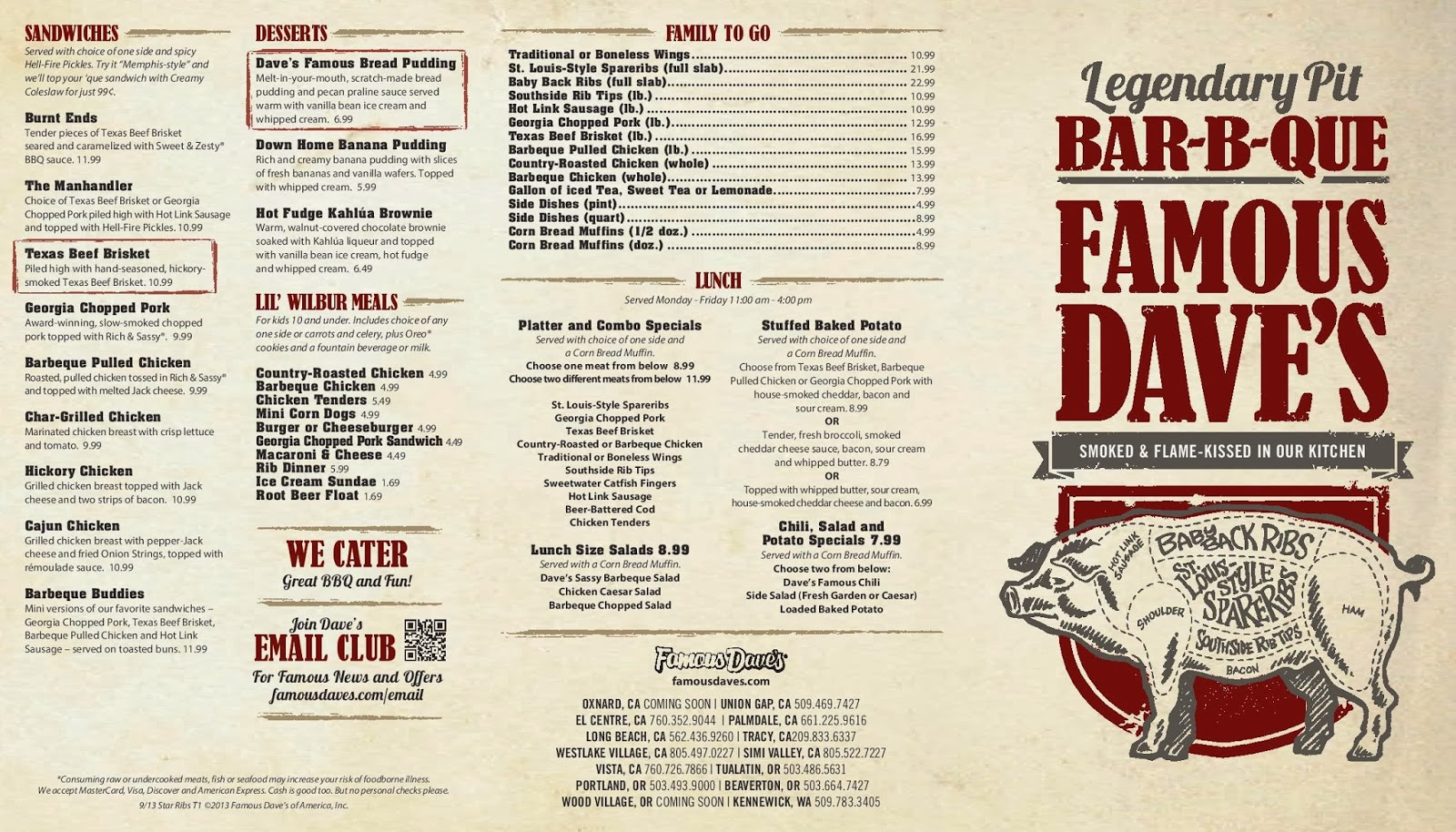 famous daves drink menu