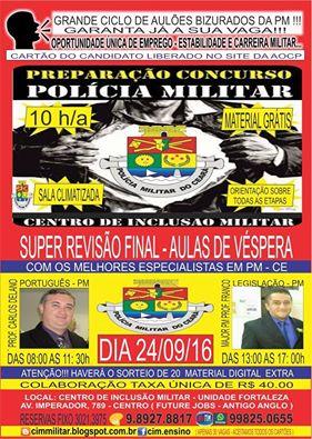AULÃO DE VÉSPERA DO CONCURSO DA POLÍCIA MILITAR DO CEARÁ