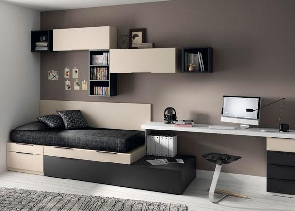 Dormitorios juveniles con 2 camas - Muebles modernos para habitaciones ...