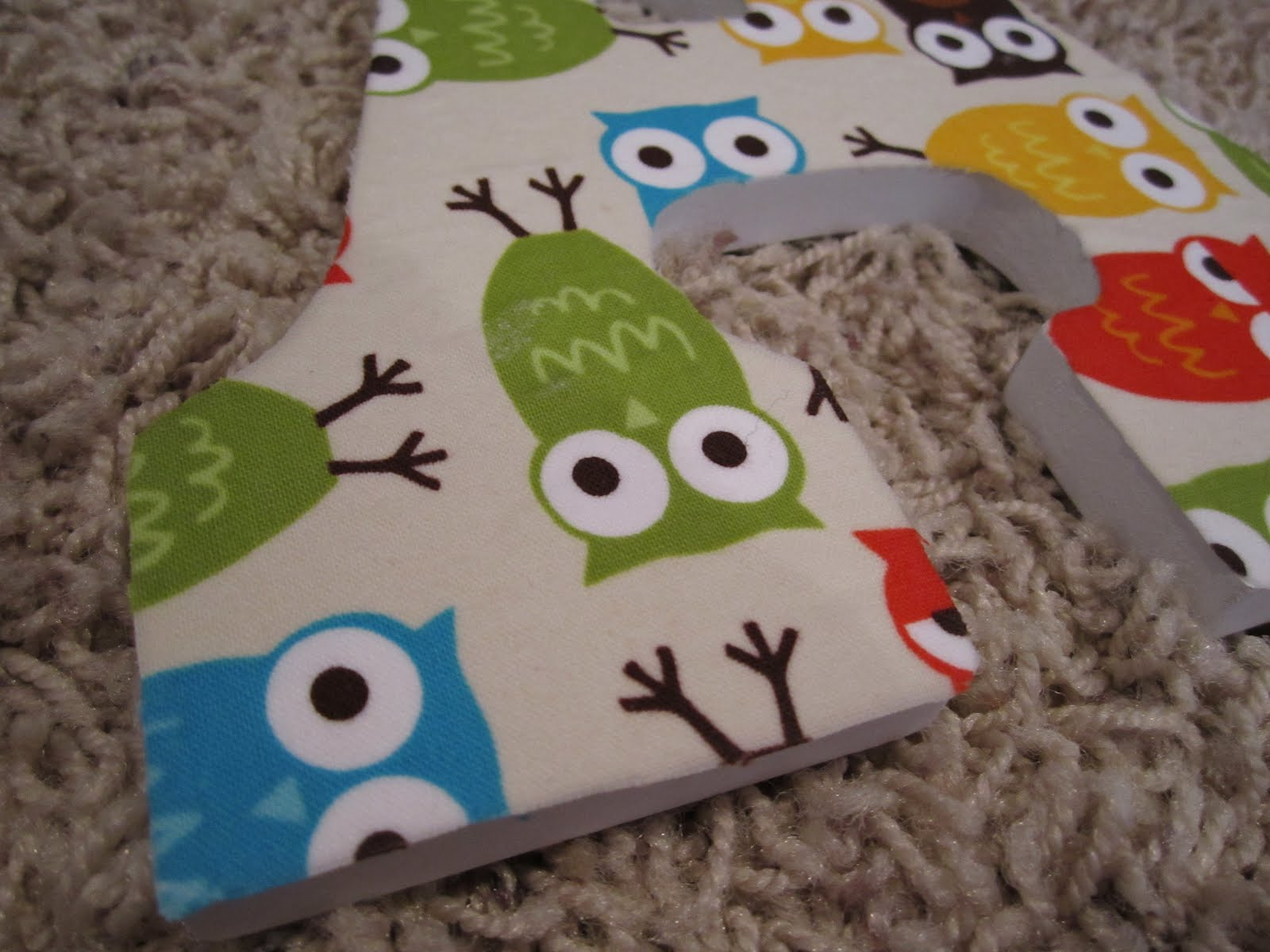 The Shipp Family 2015: DIY: Fabric Covered Wooden Letters