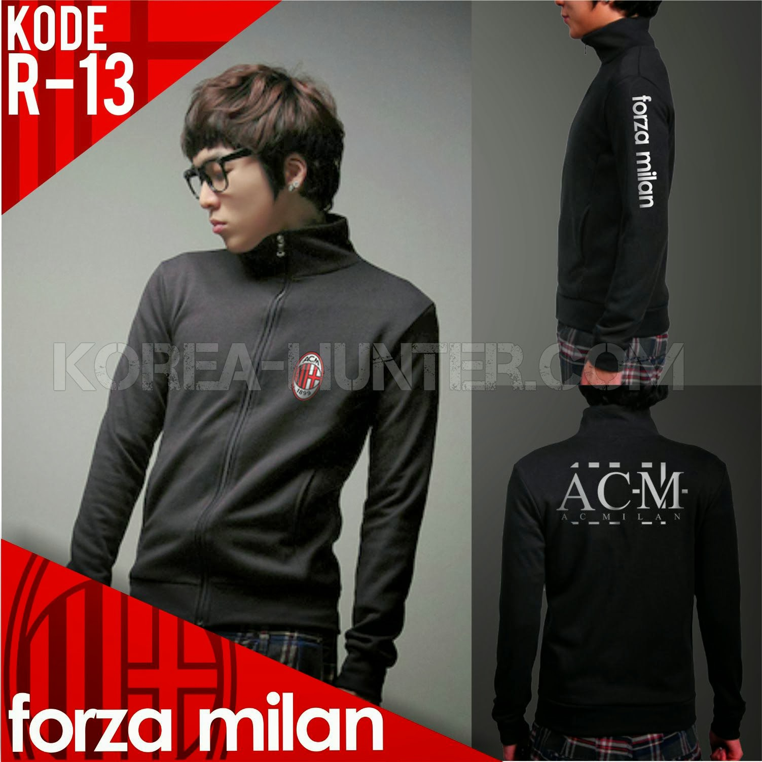 KOREA-HUNTER.com jual murah Soccer Club Jacket - Ac Milan | kaos crows zero tfoa | kemeja national geographic | tas denim korean style blazer
