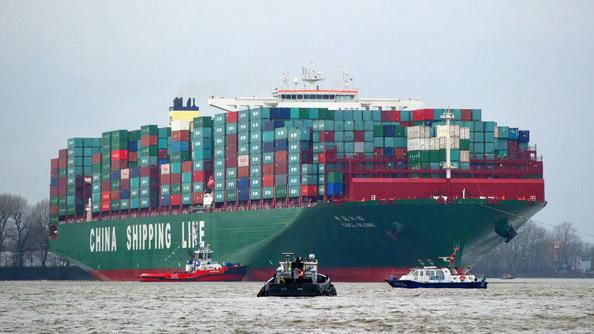 Le vert bavoir les 16 plus gros porte conteneurs du monde - Le plus gros porte conteneur de chez maersk ...