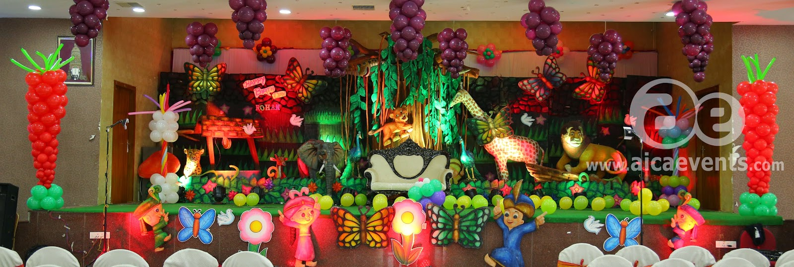 Jungle Birthday Party Decorating Ideas Image Inspiration of Cake