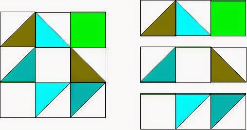 How to piece a quilt block, Darting Birds