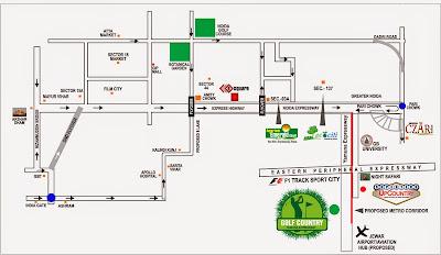 Golf Country, Yamuna Expressway :: Location Map