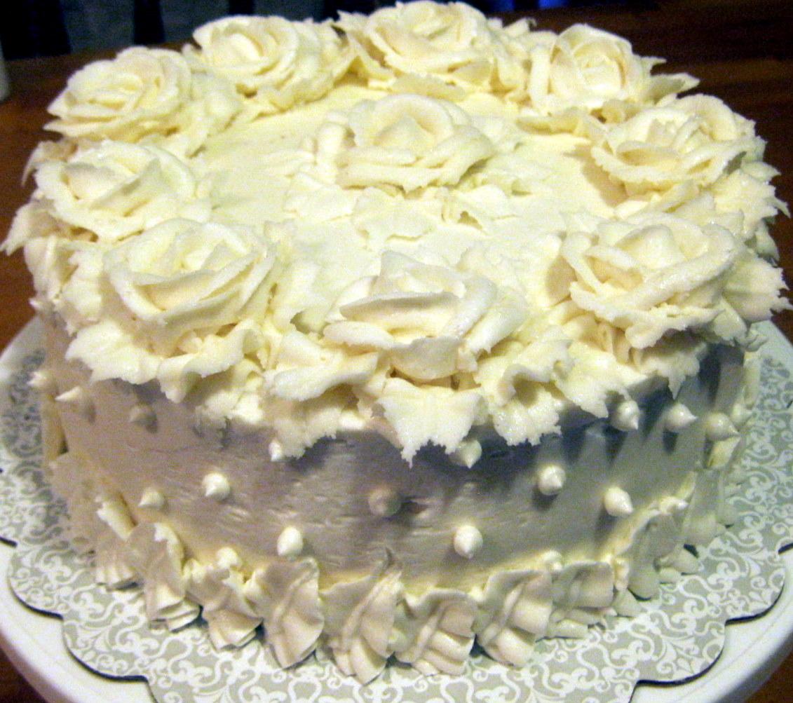 Adirondack Baker: Mini Chocolate Wedding Cake with Buttercream Frosting