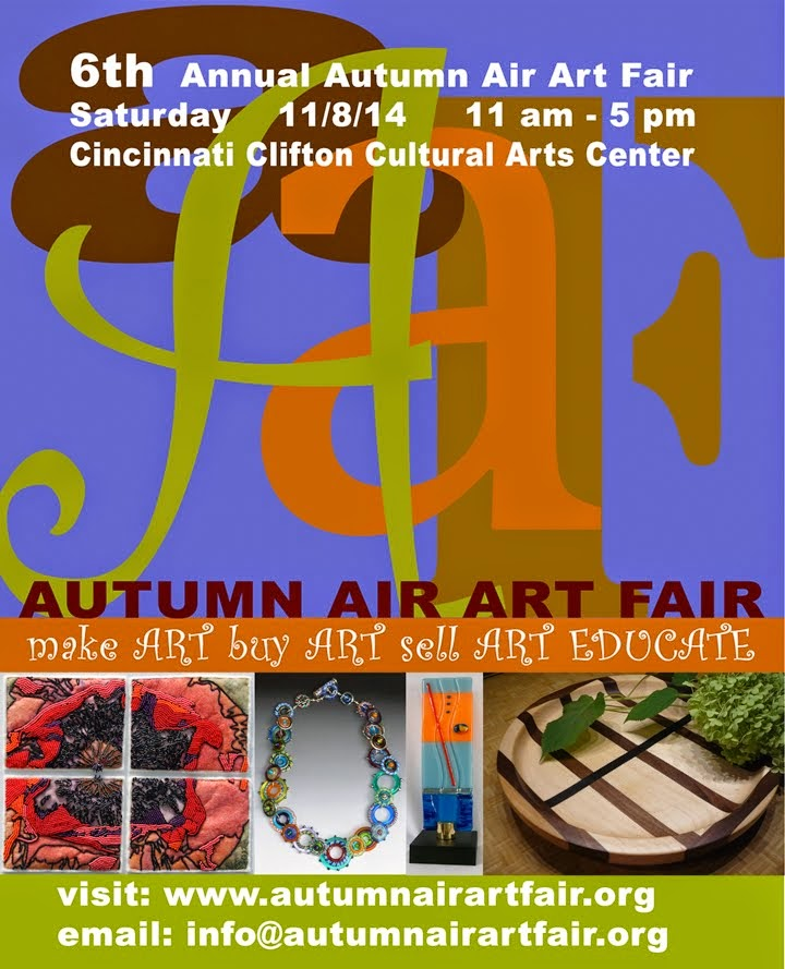 Look for me Nov. 8<br> at Autumn Air Art Fair